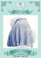 Vintage downton abbey era crochet pattern for shoulder cape-free UK postage