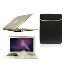 "4 in1 Crystal GREY Case for Macbook Air 11""+Keyboard Cover+LCD Screen+Sleeve Bag"