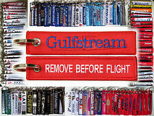 GULFSTREAM tag keychain keyring pilot owner crew Remove Before Flight