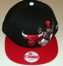 Chicago Bulls NBA New Era Hat Cap Snapback M/L Wolverine Basketball Marvel Comic