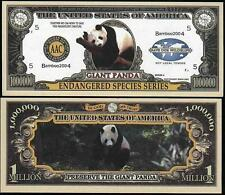 Le PANDA GEANT  . Million Dollar US . Billet de commémoration / Collection