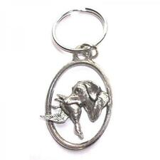 Silver Labrador And Duck English Pewter Keyring Handmade In England Key Ring New
