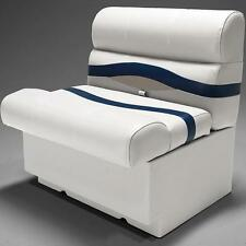 "Premium 28"" Pontoon Boat Seats In Ivory Blue"