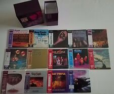 DEEP PURPLE - 14 MINI LP CD SET + PROMO DRAWER BOX - JAPAN - OOP RARE - 1998 LOT
