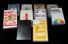 Job lot 10 packs of vintage /advertising playing cards inc Konica & Bells Whisky