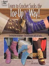 Learn To Crochet Socks The Toe-Up Way Instruction & Pattern Book - 6 Designs