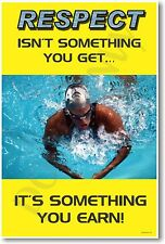 """""""Respect isn't something you get..."""" - NEW Michael Phelps Motivational POSTER"""