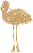 Danecraft Gold Tone Enamel Flamingo Pin Brooch