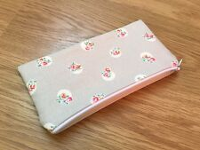 Fabric Pencil / Make Up / Glasses Case Made Using Cath Kidston Floral Spot Stone