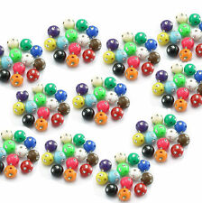 100 Round  Acrylic Silver Accent Beads for kids jewellery making and party bags