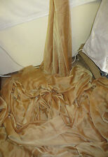 """1M  Cationic Chiffon two tone antiqe gold  SOFT  DRESS CHIFFON FABRIC 58"""" WIDE"""