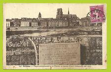 CPA-45- ORLEANS - Plaque commémorative de l'entrée de Jeanne D'Arc à Orléans