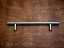 "Pack of 10, SOLID 7.5"" Satin Brushed Nickel Bar Pull Cabinet Handle"