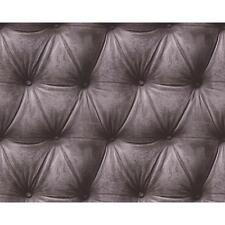 AS CREATION REALISTIC PADDED LEATHER EFFECT PATTERN NON WOVEN WALLPAPER 958774