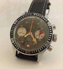 Rare Vintage Calvy Diver Chronograph Men Watch Valjoux 7732 12 atmospheres 39mm