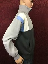 vintage 80's ADIDAS TREFOIL full zip jacket/sweatshirt/sweater grey/baby blue L