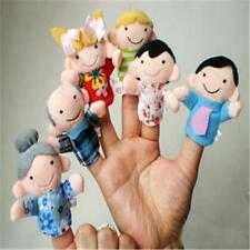 6 Piezas Bebé Familia Educativo Story Dedo Juguete Niños Marioneta Peluche