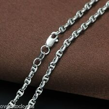 AU750 20INCH 18K White Gold Necklace Mariner Link Chain / 3.73g