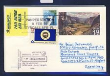 52813) LH FF München - St.Tropez France 6.4.97, postal stat.card USA Canyon..