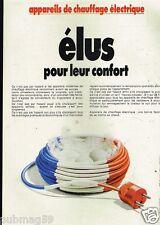 Publicité advertising 1979 Les Appareils de Chauffage électrique