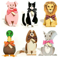36 Lion, Pig, Squirrel, Duck, King Charles Spaniel & Cat 3D Birthday Cards