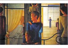 Kunstkarte / Postcard Art  - Oskar Schlemmer: Zwölfergruppe mit Interieur