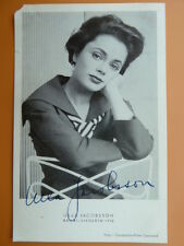 -ve- Ulla Jacobsson, Autogrammkarte 1956 (Unterschirft aufgedruckt)