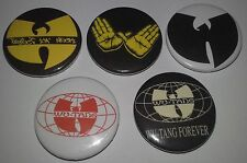5 Wu Tang Clan 25mm Badges Protct Ya' Neck Ghostface RZA GZA Method Man