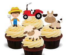 Animali da allevamento Commestibili Decorazioni per Cupcake-Stand-Up Fata Torta Decorazioni Compleanno