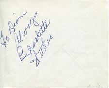 "BERNADETTE WITHERS ""BACHELOR FATHER"" ""WAGON TRAIN"" ACTRESS SIGNED PAGE AUTOGRAPH"