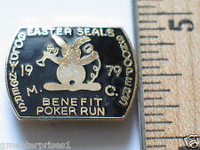 Vintage Goodwill Easter Seals Goldwing MotorCycle Club  Pin Screwback (#030)