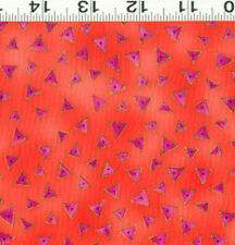 LAUREL BURCH ~ BASIC TRIANGLE  ~ BY THE YARD ~ DARK CORAL METALLIC ~ Y0841-40M