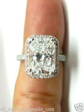 2.50 CT RADIANT CUT SOLITAIRE ENGAGEMENT RING SOLID 14K WHITE GOLD