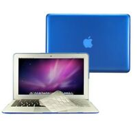 """2 in1 Crystal ROYAL BLUE Case for Macbook AIR 13"""" A1369 + TPU Keyboard Cover"""