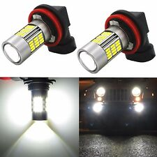 Alla Lighting 2x 4014 54-SMD H16 Super Bright 6000K White LED Fog Lights bulbs