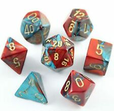 CHESSEX - CHX26462 Set de 7 Dés Gemini 7 Rouge-Teal/Or