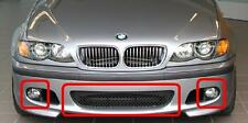 BMW NEW 3 SERIES E46 SALOON TOURING FRONT M SPORT BUMPER CENTER GRILL SET MESH