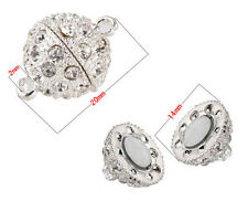 New Sliver Plated Round Spherical Art Jewelry Findings Magnetic Clasps