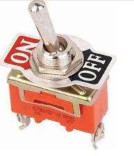 10* Interruptor De Palanca 2-Pin 15A 250V AC ON-OFF Toggle Switches conmutador