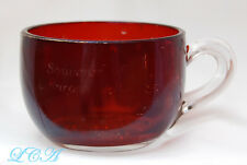 Rare antique CAMROSE ALBERTA CANADA souvenir cup RUBY RED FLASH glass