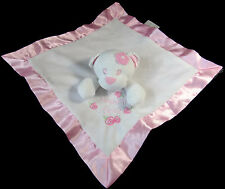 Baby Essentials Heaven Sent Pink White Flowers Bear Security Blanket Lovey Rose