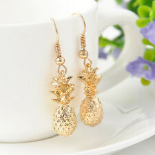 NEW Betsey Johnson Yellow Pineapple Pendant Fruit Gold Plated Earrings Gifts