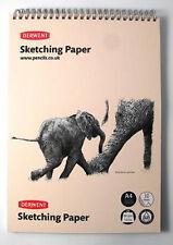 Derwent A4 Portrait Sketch Pad Wirebound Spine 30 Sheets of Acid Free 165gsm