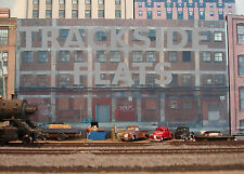#127 HO scale background building flat  LARGE FACTORY   FREE SHIPPING