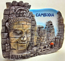 Bayon Cambodia Angkor Wat Temple 3D Fridge Magnet Asia Holiday Resin Souvenir