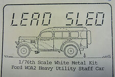 RARE LED SLED KIT OF A  FORD WOA2 HEAVY UTILITY STAFF CAR WHITE METAL MODEL KIT