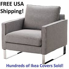 IKEA MELLBY Armchair Chair cover Slipcover ELDRIS BLACK WHITE New! Sealed!