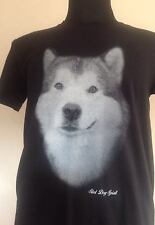 ALASKAN MALAMUTE T SHIRT SLED DOG SCREEN HUSKY MUSH MUSHING FATHERS FATHER GIFT