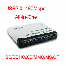 USB 2.0 All-in-One Multi Slot Memory Card Reader/Writer - SD/SDHC/XD/MMC/T-Flash