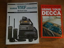 2 vintage books MARINE VHF OPERATION & USING YOUR DECCA Radio Technology